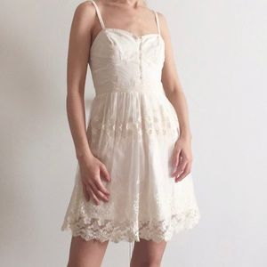 Cute!! American Eagle brown lace floral dress sz M